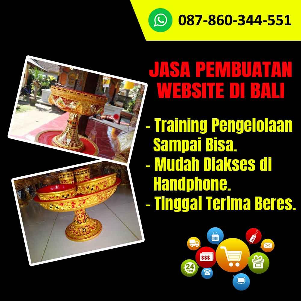 Jasa Pembuatan Website Kerajinan Dulang Bali