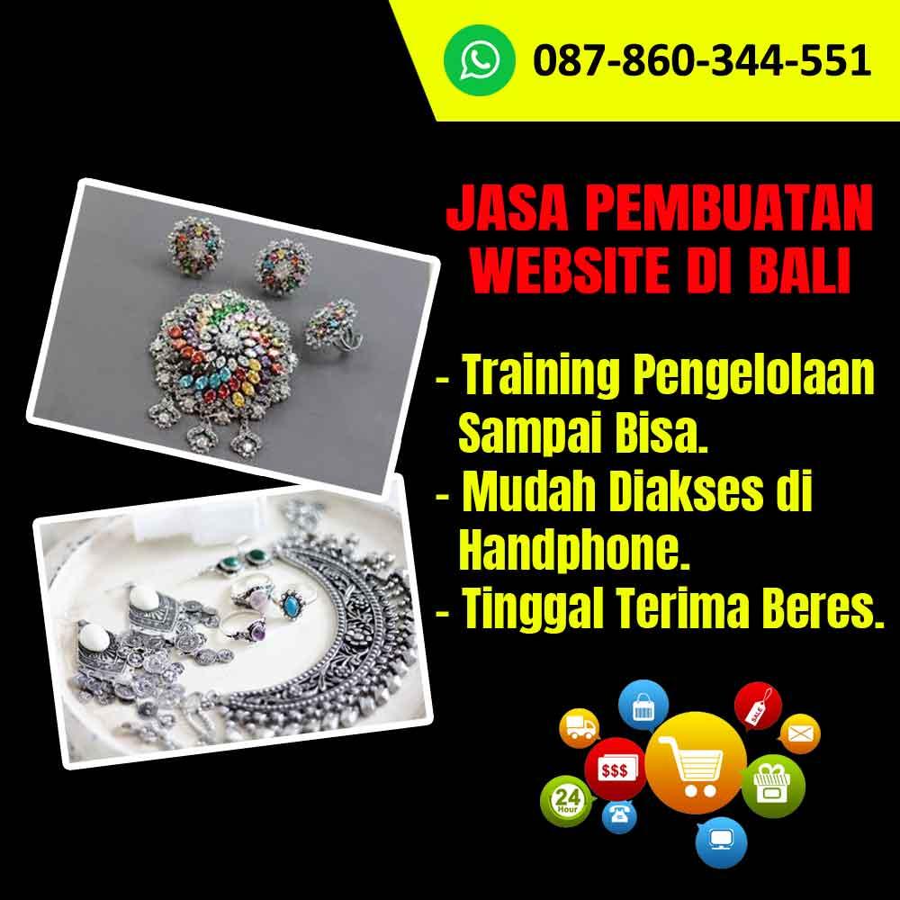Jasa Pembuatan Website Kerajinan Perhiasan Perak di Bali