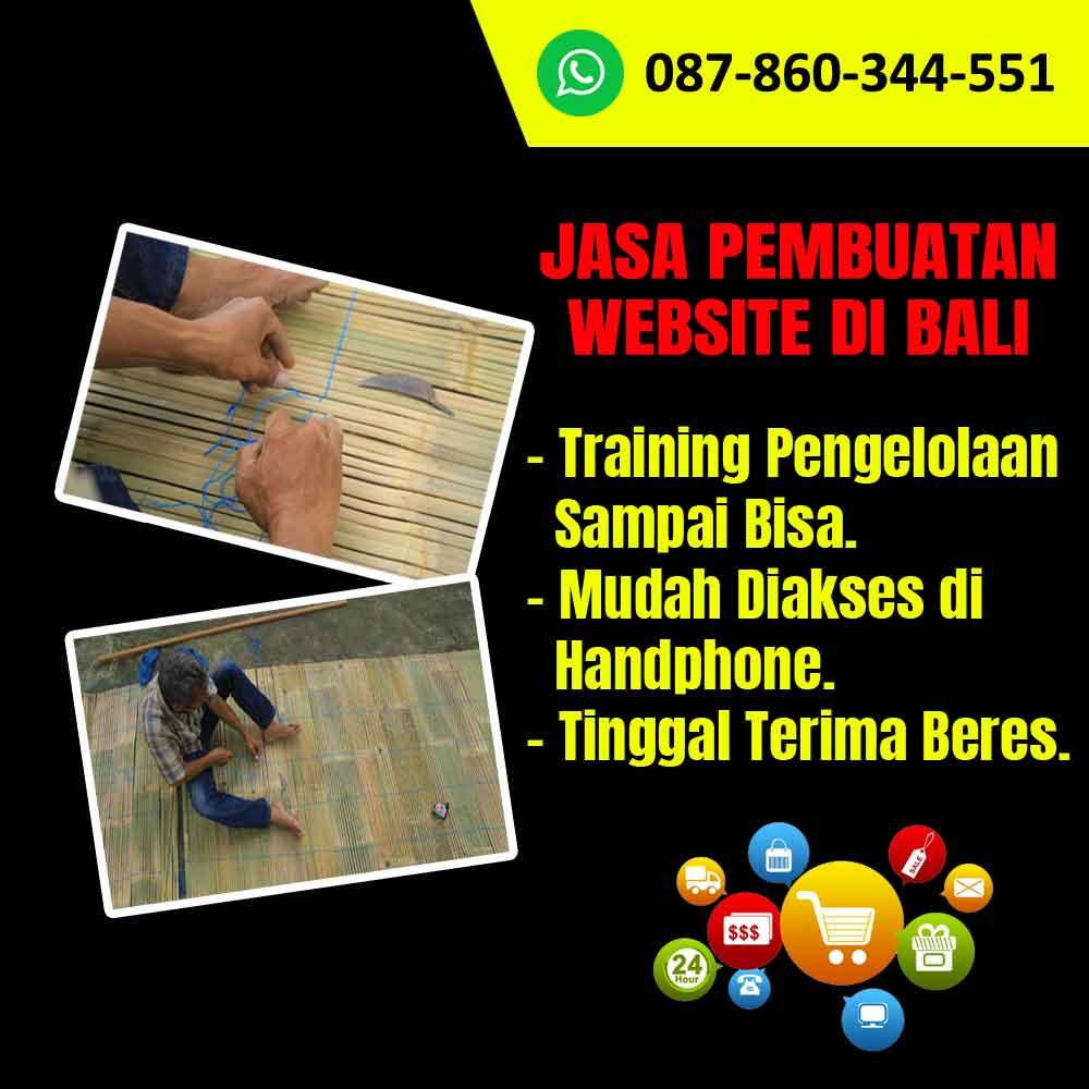 Jasa Pembuatan Website Kerajinan Tirai Bambu di Bali