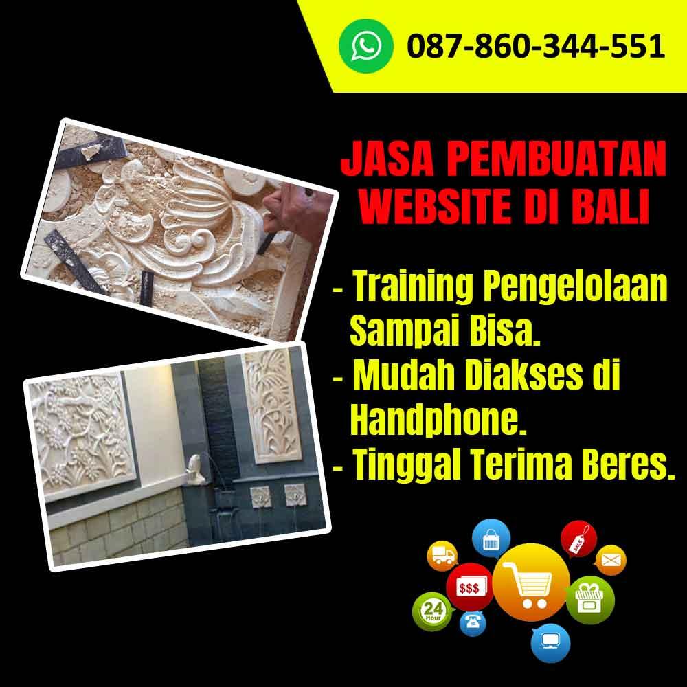 Jasa Pembuatan Website Kerajinan Ukiran Batu Alam di Bali