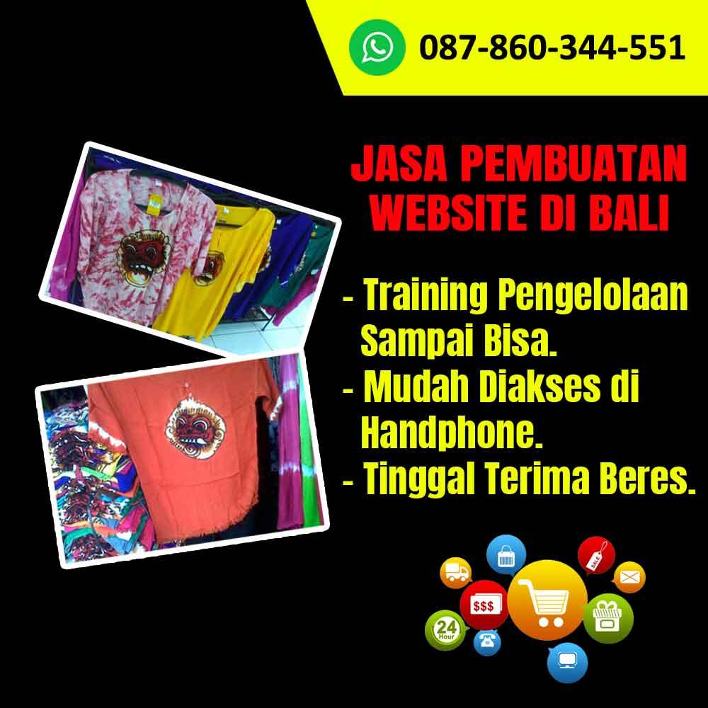 Jasa Pembuatan Website Toko Baju Barong Bali