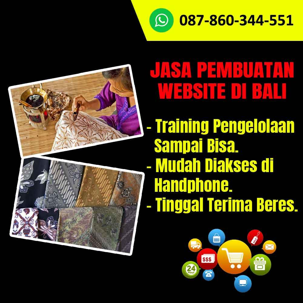 Jasa Pembuatan Website di Bali Untuk Kerajinan Batik