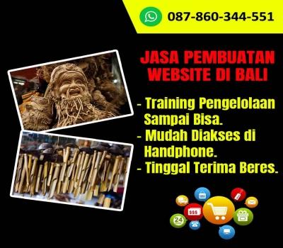Jasa Pembuatan Website Kerajinan Bambu di Bali