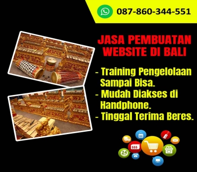 Jasa Pembuatan Website Kerajinan Gambelan Bali