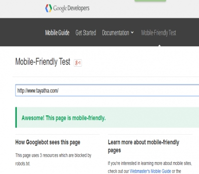 cara mengecek web mobile friendly